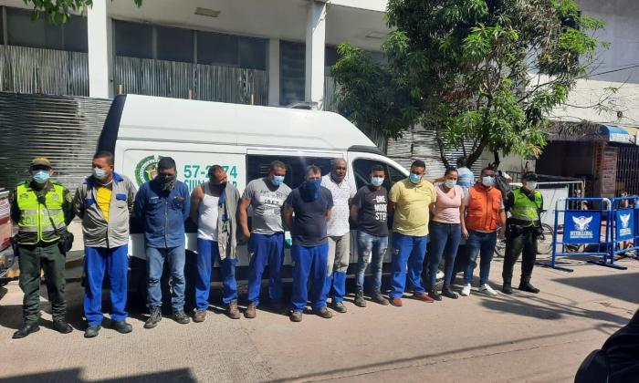 Capturan a 10 personas por robo de cables eléctricos en Barranquilla