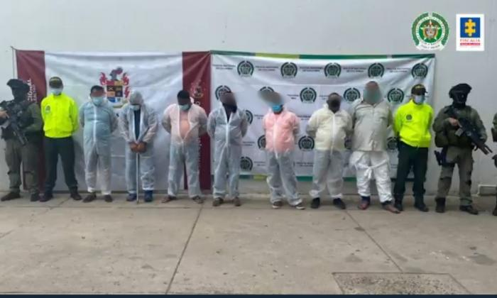 Capturan ocho personas vinculadas a una red internacional de narcotráfico