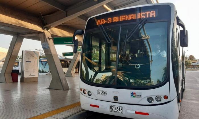 Transmetro tendrá desvíos en alimentadores por partido Colombia-Argentina