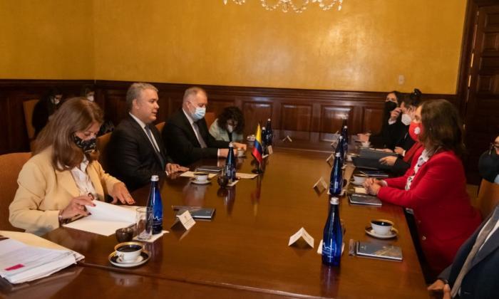 Presidente Iván Duque se reúne con representantes de la CIDH