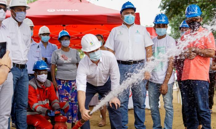 Comunidad indígena de Cruz del Beque, Sucre, ya tiene agua