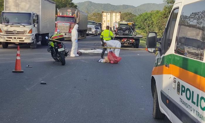 Un muerto y un herido deja accidente en Santa Marta