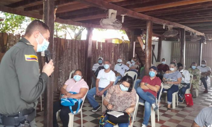 San Onofre pide mayor seguridad al comandante de la Policía de Sucre