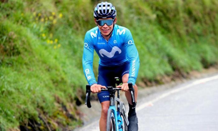 Miguel Ángel López compone el tridente del Movistar para la Vuelta a España