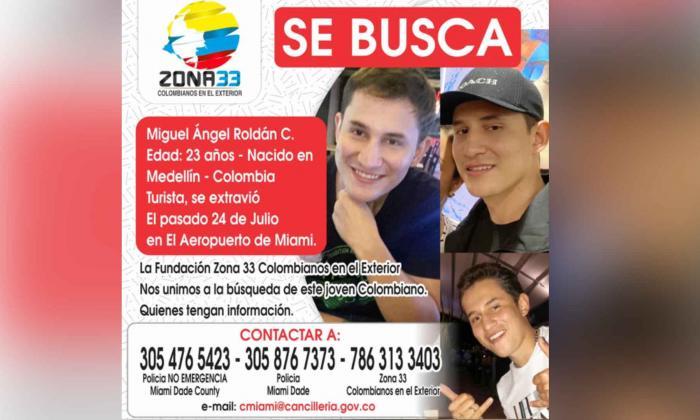 Joven colombiano en viaje por EE. UU. lleva casi un mes desaparecido
