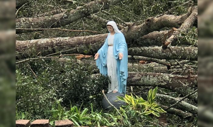 Intacta permaneció imagen de la Virgen tras paso de huracán Ida en EE. UU.