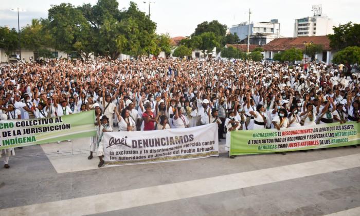 Mujeres arhuacas exigen al Gobierno respeto de autonomía en sus territorios