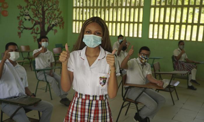 Regreso bioseguro a las aulas en Sucre