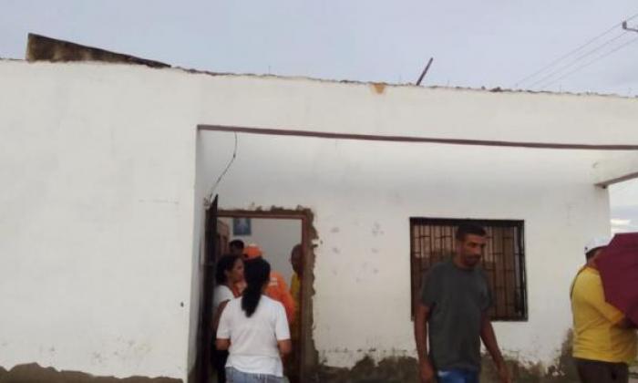 Así lucen los inmuebles afectados tras vendaval y lluvia en Palmar de Varela y Baranoa
