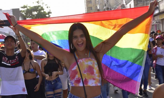 Así se llevó a cabo la marcha del orgullo gay en Barranquilla
