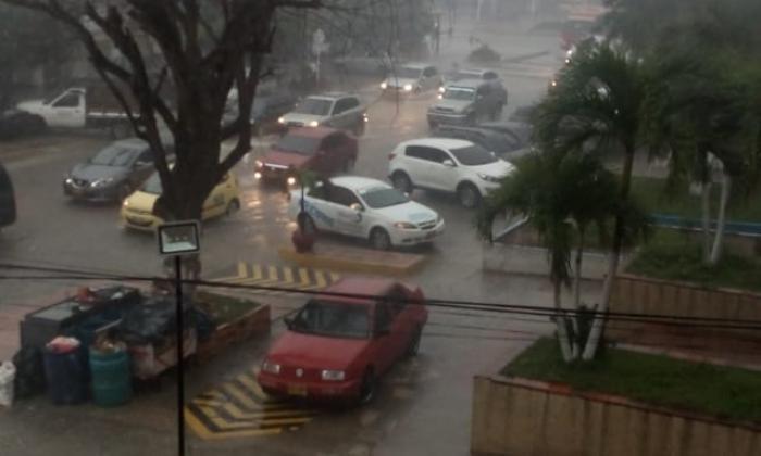 Así se ve Barranquilla durante el aguacero de este lunes