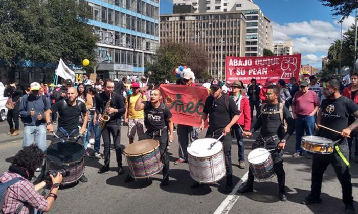 Imágenes que dejan las manifestaciones en Bogotá