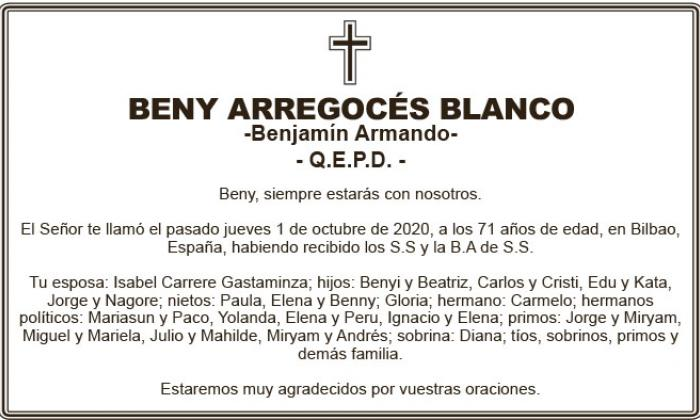 Beny Arregocés Blanco