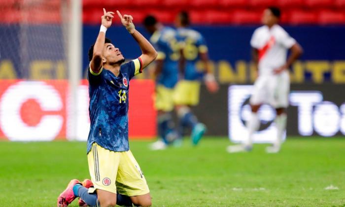 Reviva en imágenes el partido de Colombia vs. Perú