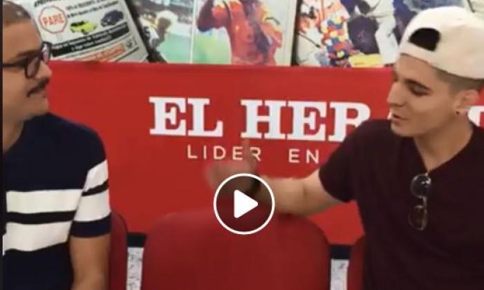 El día que Legarda promocionó su primer sencillo en EL HERALDO