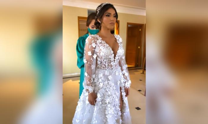 Así fue el vestido de Tasharem Villegas, la esposa de Luis Fernando Muriel