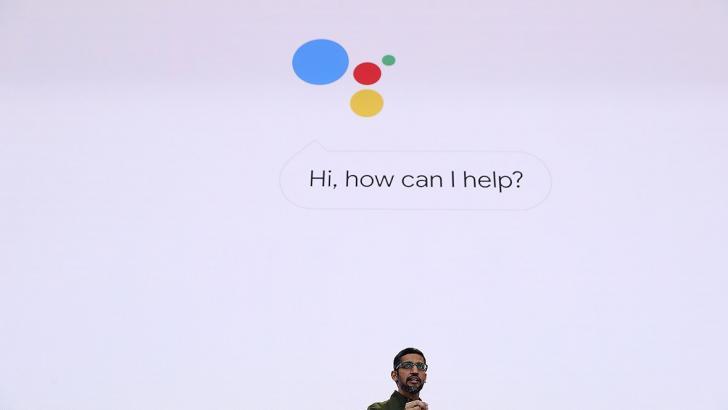 Sundar Pichai, CEO de Google, durante la presentación del nuevo asistente vocal de la compañía.