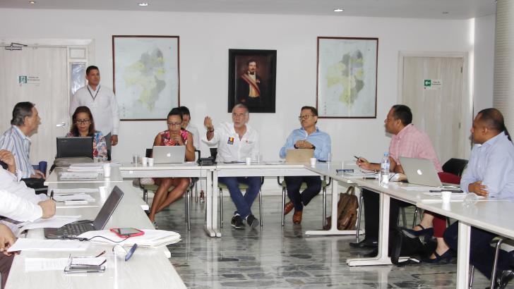 Reunión de ayer del Consejo Superior de la Universidad del Atlántico.