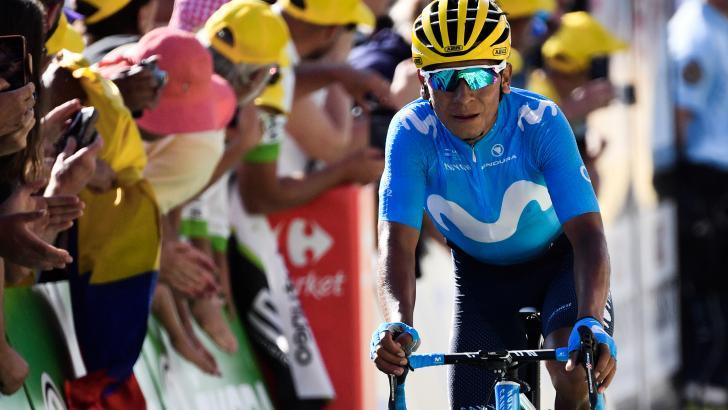 El ciclista Nairo Quintana, uno de los líderes del Team Movistar, en competencia.