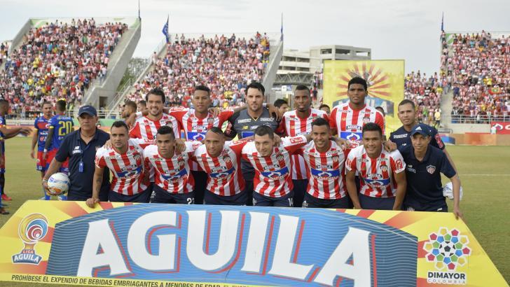 Arriba: Hernández, Sánchez, Viera, Balanta y Pérez. Abajo: Piedrahíta, Díaz, Jarlan, Pico, Gutiérrez y Teo.