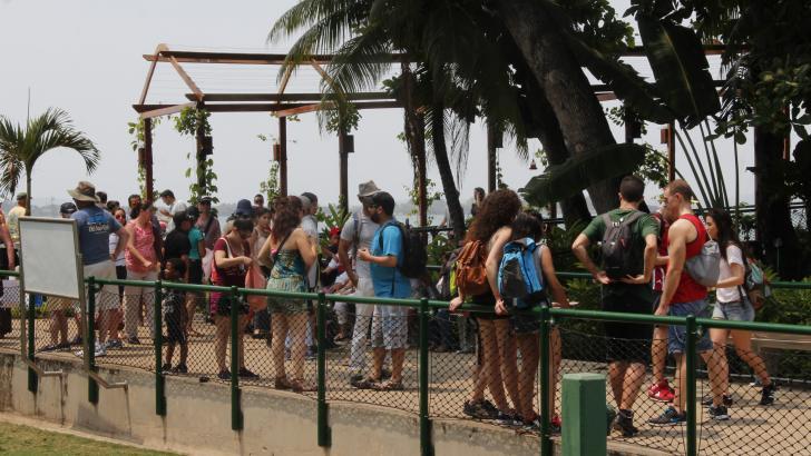 Turistas extranjeros en Cartagena.