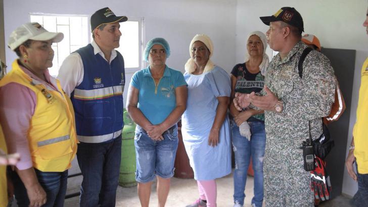 El gobernador Dumek Turbay en los preparativos.
