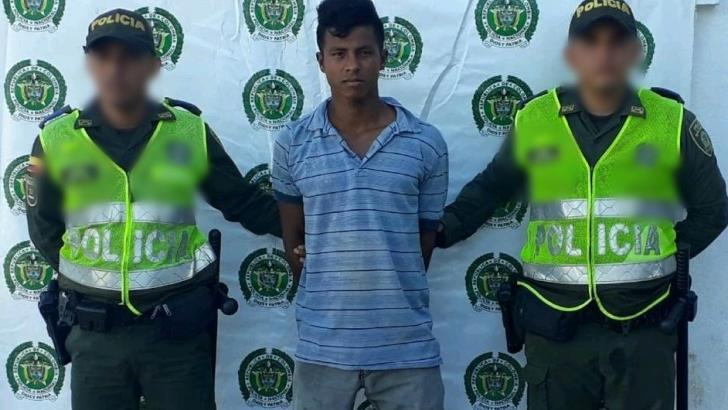 Cristian David Pacheco Polanco, capturado.