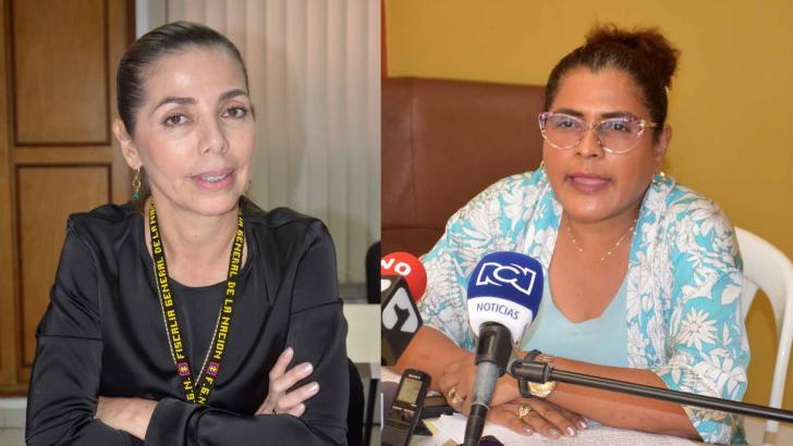 Maritza Chavarro Antury y Luz Mery Cecilia Díaz Genes.