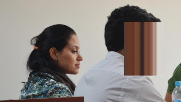La médica Estefany García Sánchez en los estrados judiciales.