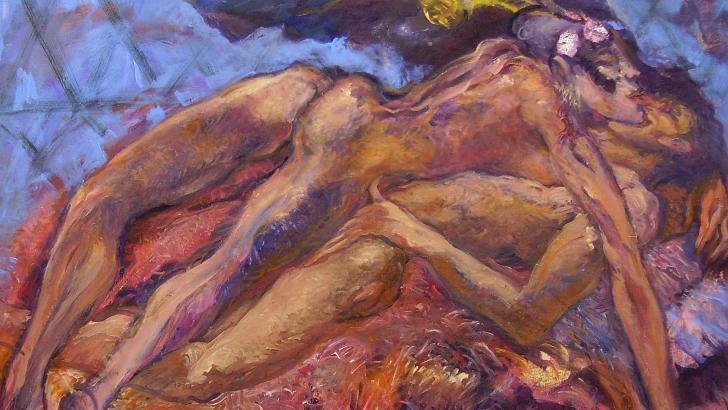 Obra 'Eros cabalga', de Ángel Loochkartt.
