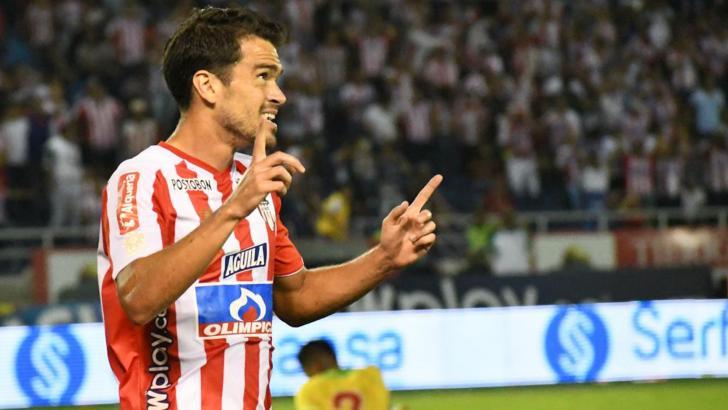 Sebastián Hernández celebra el gol marcado al oncejo opita.