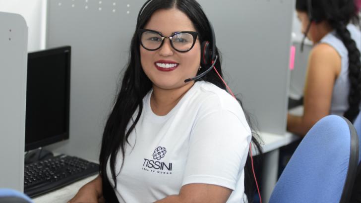 Natalí Hernández, asesora de Tissini en Barranquilla.