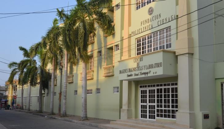 Centro asistencia de Ciénaga donde fue trasladado el niño tras sufrir el ataque de su madre.