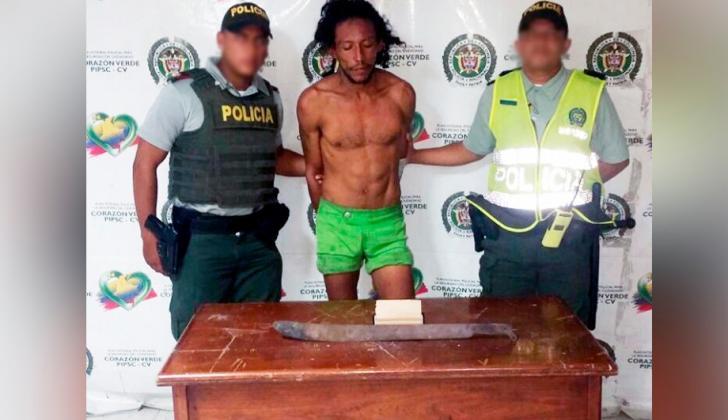 Víctor Manuel Flórez Cañas, de 25 años, capturado por las autoridades tras intentar agredir al párroco de Villa Carolina.