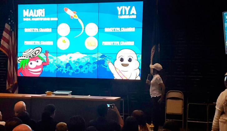 Presentación de los experimentos costeños en la Nasa.
