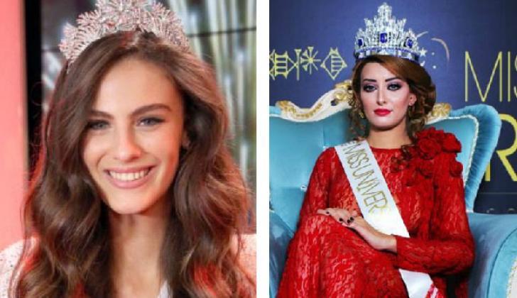 Miss Israel, Adar Gandelsman y Miss Irak, Sarah Idan.