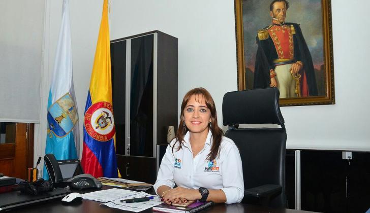 Jimena Abril, ayer en su función como alcaldesa.