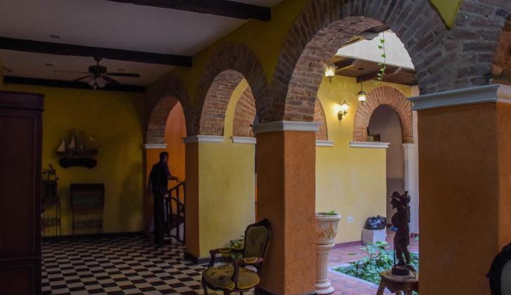 Interior del hotel San Nicolás Colonial, que será inaugurado el próximo mes.