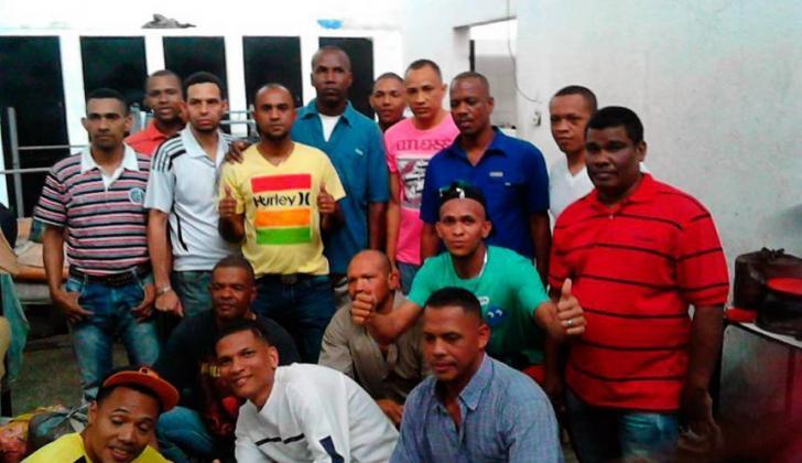 Algunos de los colombianos detenidos en Caracas, Venezuela.