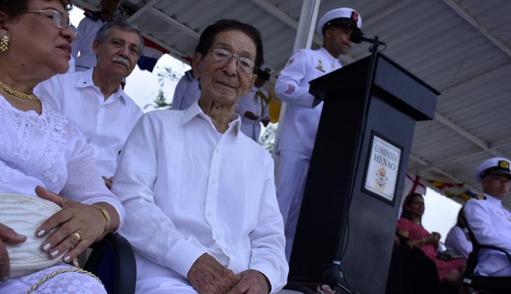 José Kaor Doku durante la ceremonia.