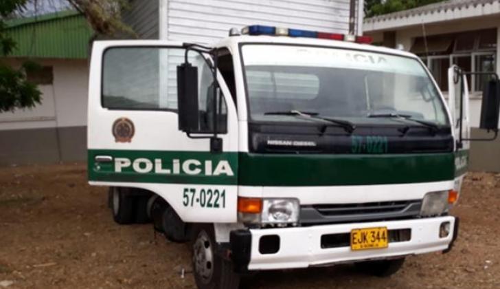 El camión decomisado por la Policía de Riohacha.