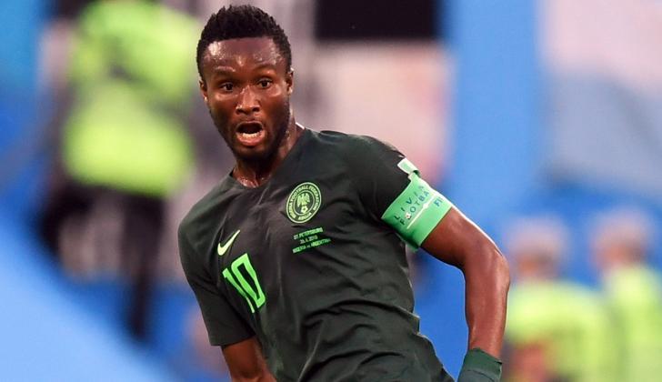 John Obi Mikel, capitán de la selección nigeriana.