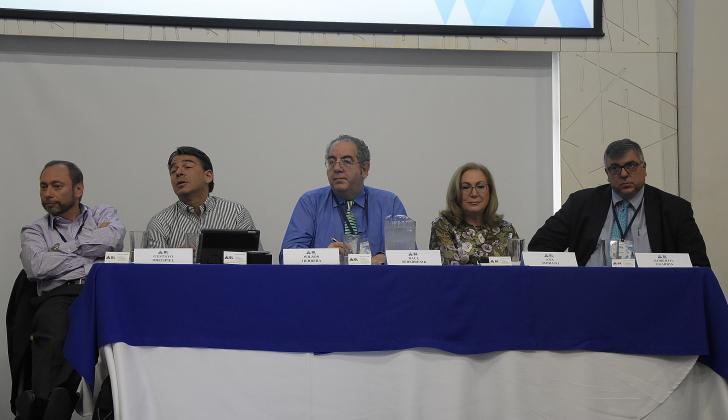 Gustavo Dreispiel, Wilson Herrera, Raúl Serebrenik, Ana Morato y Roberto Guardia.