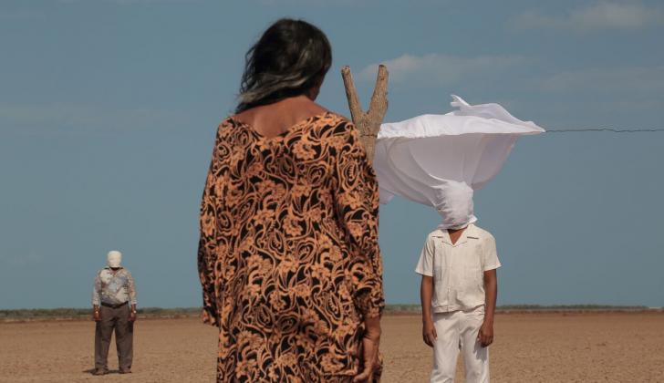 Escena de la película colombiana 'Pájaros de Verano', rodada en La Guajira.