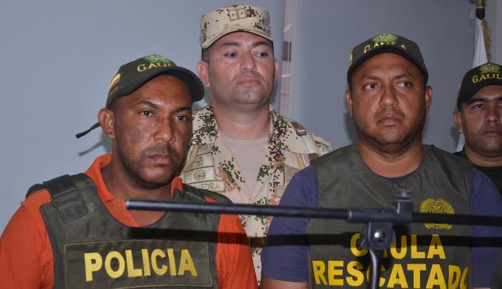 Abel Manjarrés y Haison José Fuenmayor, durante la rueda de prensa.