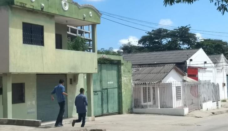 Sector del barrio La Sierrita donde fue hallado el celador.