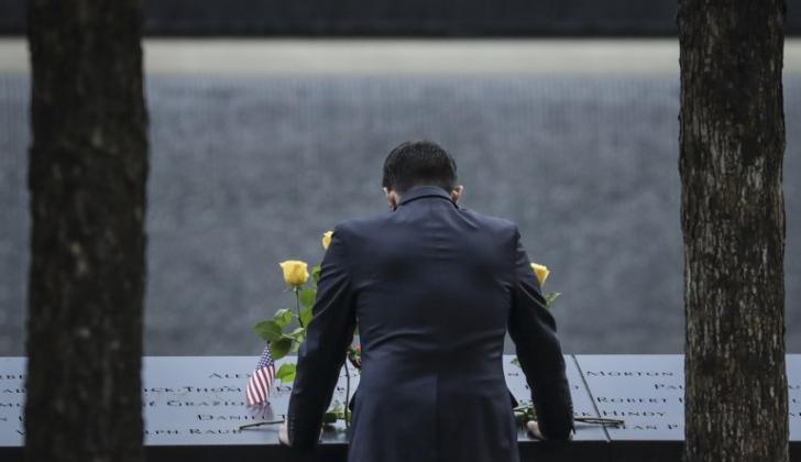 Ceremonia de conmemoración por las víctimas del atentado del 11 de septiembre.