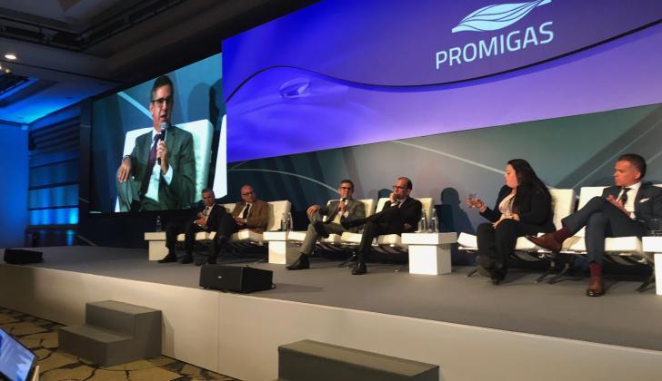 El presidente de Promigas, Eric Flesch, durante la presentación del informe.