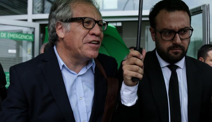 El secretario de la OEA, Luis Almagro, llegó ayer.