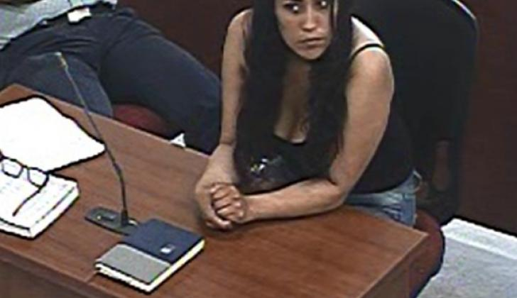 July Alejandra Cristancho Pinto, en la audiencia de imputación del martes.